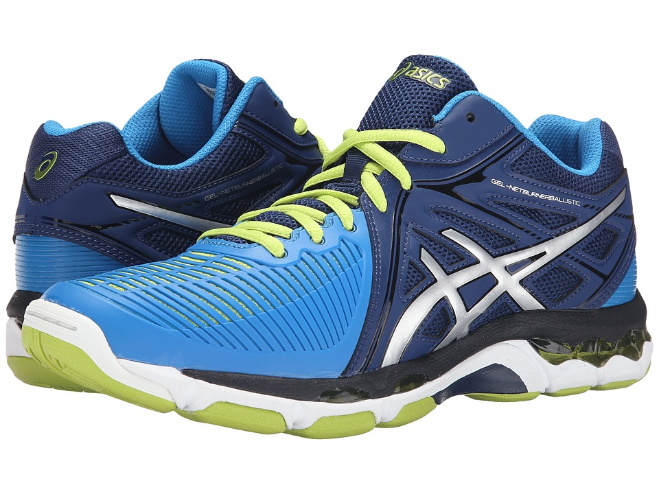 ASICS GEL Netburner Ballistic MT Navy/Silver/Electric Blue Mens Volleyball Shoes