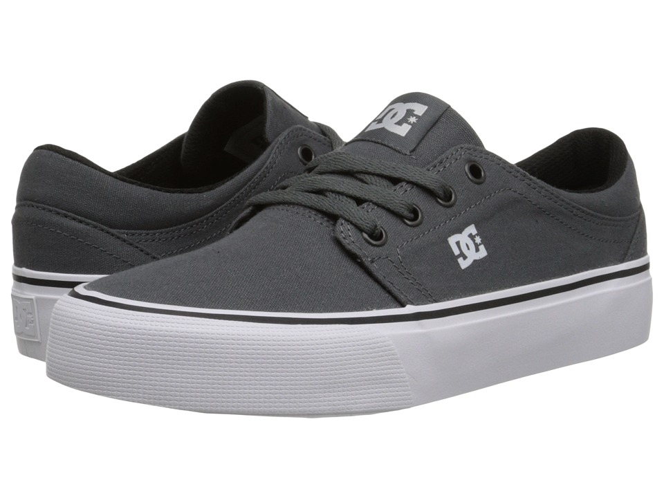 DC - Trase TX (Grey/Grey/White) Skate Shoes