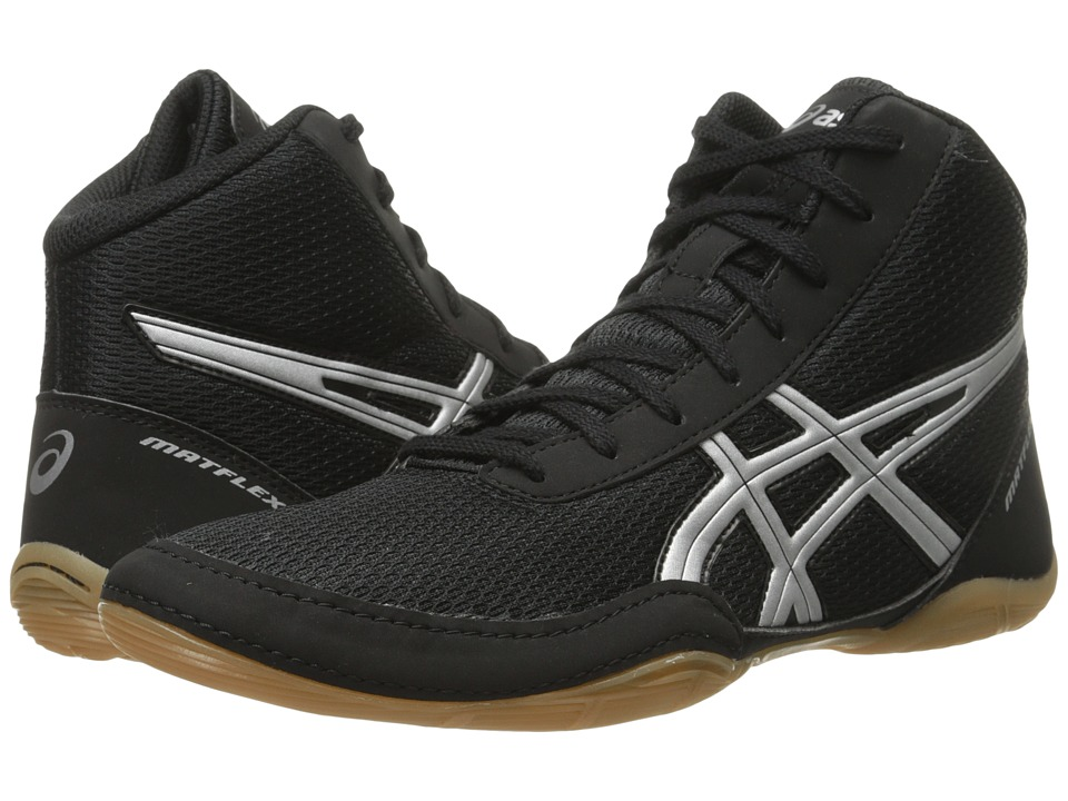ASICS - Matflex(r) 5 (Black/Silver) Mens Wrestling Shoes