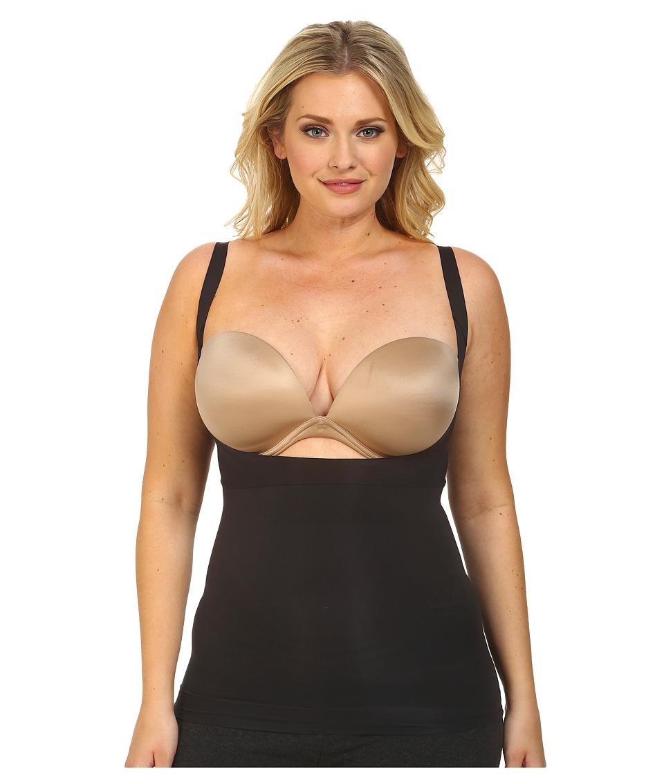 Spanx Plus Size Shape My Day Open Bust Camisole Black Womens Underwear