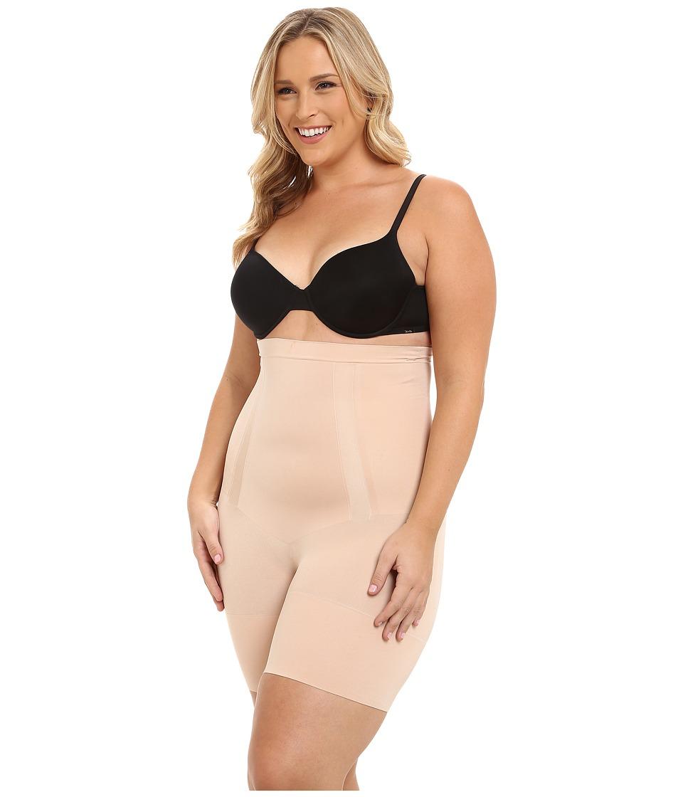 Spanx Plus Size Oncore High Waist Mid Thigh Soft Nude Womens Underwear