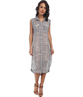 Free People - Printed Check Chiffon Mercer Street Maxi