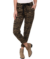 Free People - Printed Linen Relaxed Cropped Tie Pants