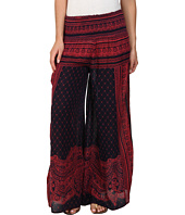 Free People - Printed Rayon Gauze Sahara Smocked Wideleg