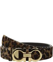 Salvatore Ferragamo - Leopard Double Gancini Belt