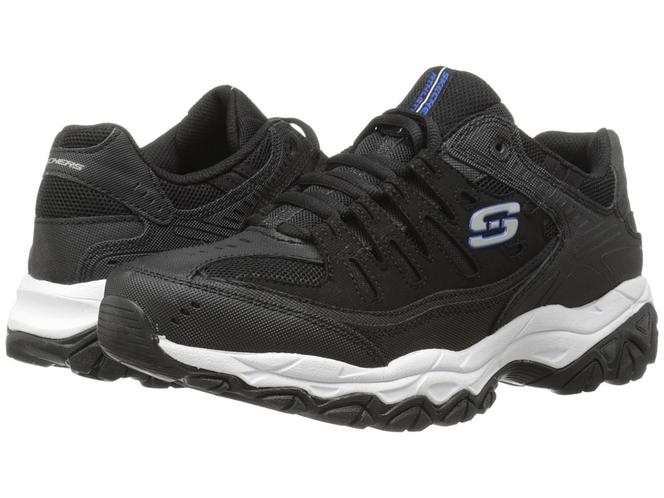 SKECHERS Afterburn M. Fit (Black/Royal) Men