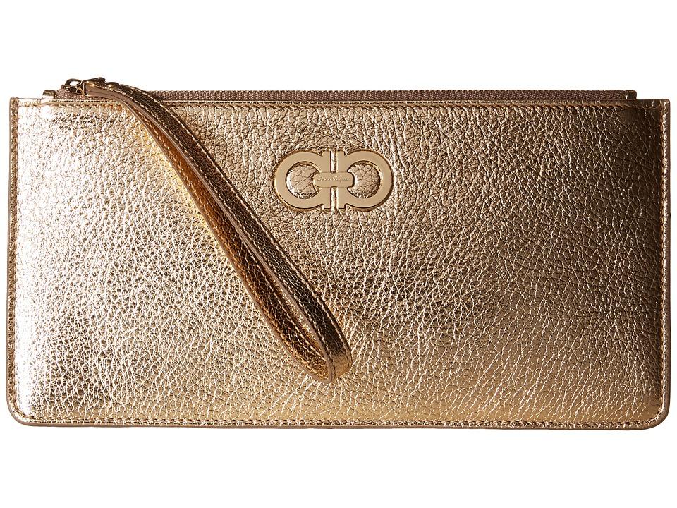 Salvatore Ferragamo - 22C230 (Oro Mekong) Wallet