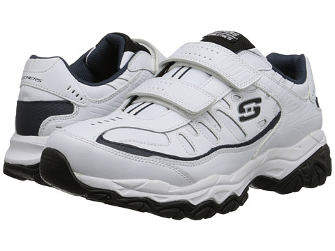 SKECHERS Afterburn M. Fit Stike On - White/Navy