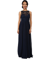 Aidan Mattox - Lace Illusion Long Chiffon Gown