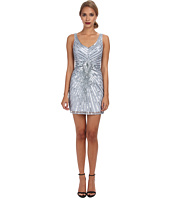 Aidan Mattox - Beaded Tank Dress with Diamond Motif