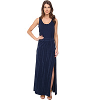 DKNY Jeans - Knit Denim Maxi Dress with Mesh