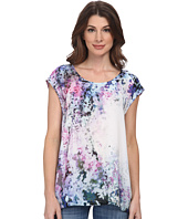DKNY Jeans - Sunset Florals Print Crossover Back Top
