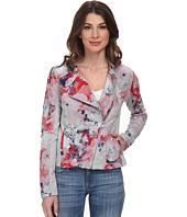 DKNY Jeans - Floral Printed Moto Jacket