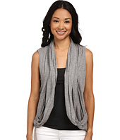DKNY Jeans - Mesh Back Draped Cozy Vest