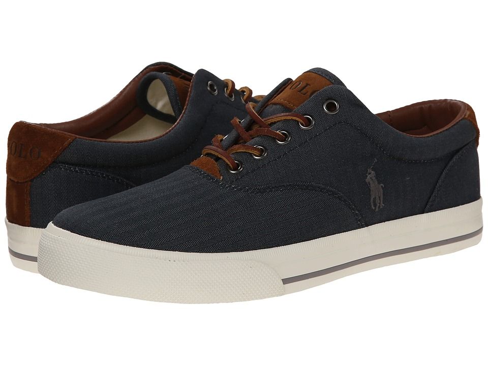 Polo Ralph Lauren - Vaughn (Denim Chambray Herringbone/Sport Suede) Mens Lace up casual Shoes