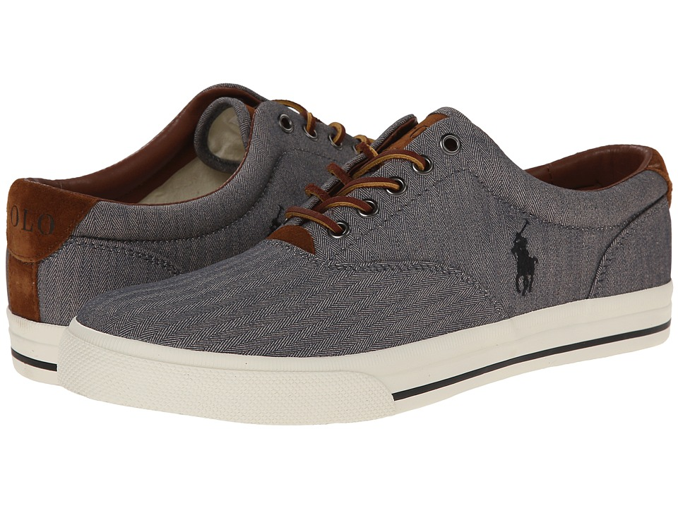 Polo Ralph Lauren Vaughn (Grey Chambray Herringbone/Sport Suede) Men