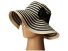 San Diego Hat Company RBM5556 Washed Paper Braid and Ribbon Sunbrim Hat