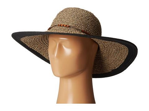 San Diego Hat Company UBL6472 Ultrabraid Sunbrim w/ Wooden Beaded Trim - Multi Black
