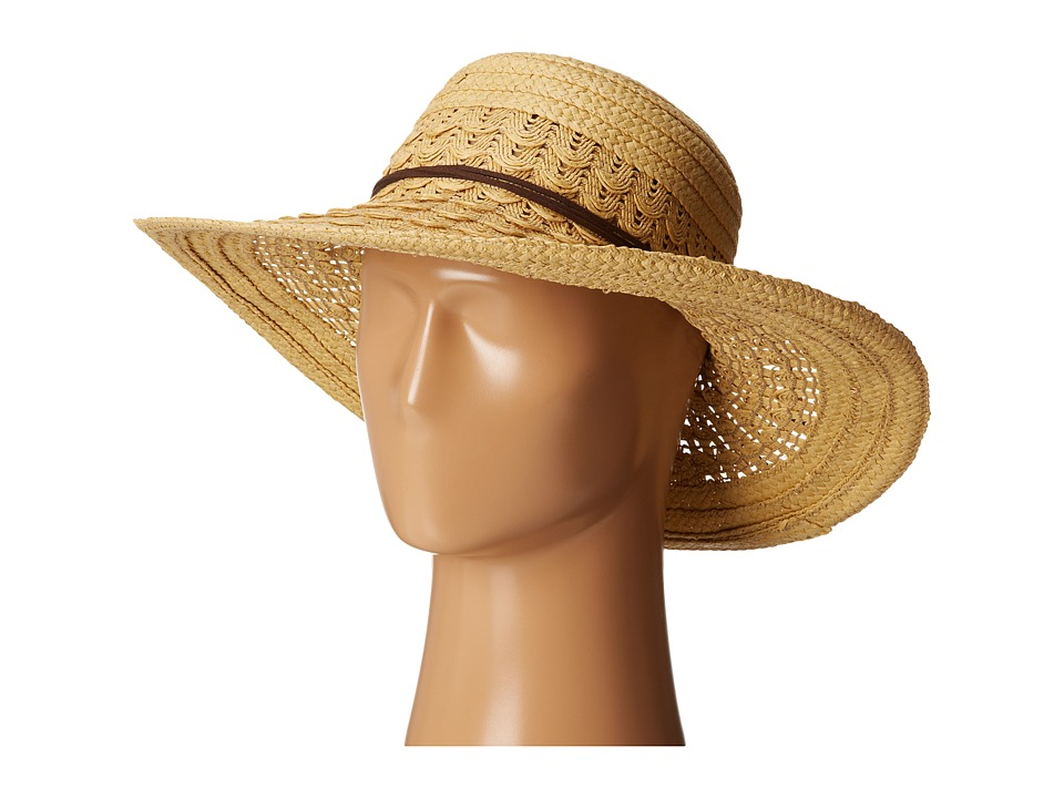San Diego Hat Company - UBL6478 Ultrabraid Hombre Sunbrim w/ Leather Band (Natural) Caps