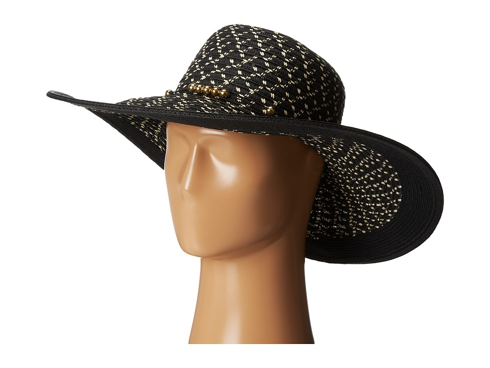San Diego Hat Company - PBL3038 Sunbrim w/ Contrast Edge and Gold Bead Trim (Black) Caps