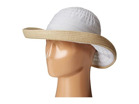 San Diego Hat Company RBM5554 Ribbon Kettle Brim - White