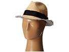San Diego Hat Company EBH9890 Woven Raffia Fray Edge Fedora w/ Bow