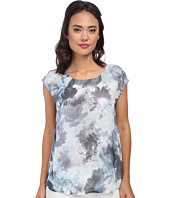 DKNY Jeans - Sea Floral Print Tee w/ Knit Crossover Back