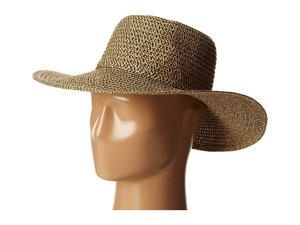 San Diego Hat Company - PBL3046 Sunbrim Hat w/ Lurex and Gold Dome Stud Trim (Mixed Black) Caps