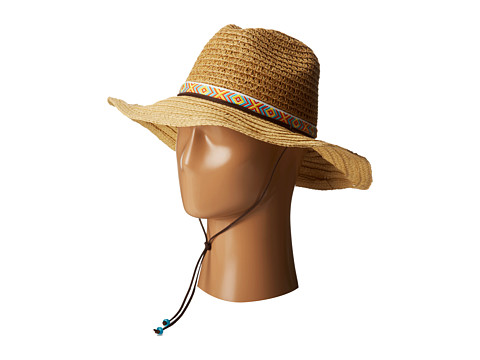 San Diego Hat Company PBL3044 Sunbrim w/ Jaquard Band and Chin Cord - Natural