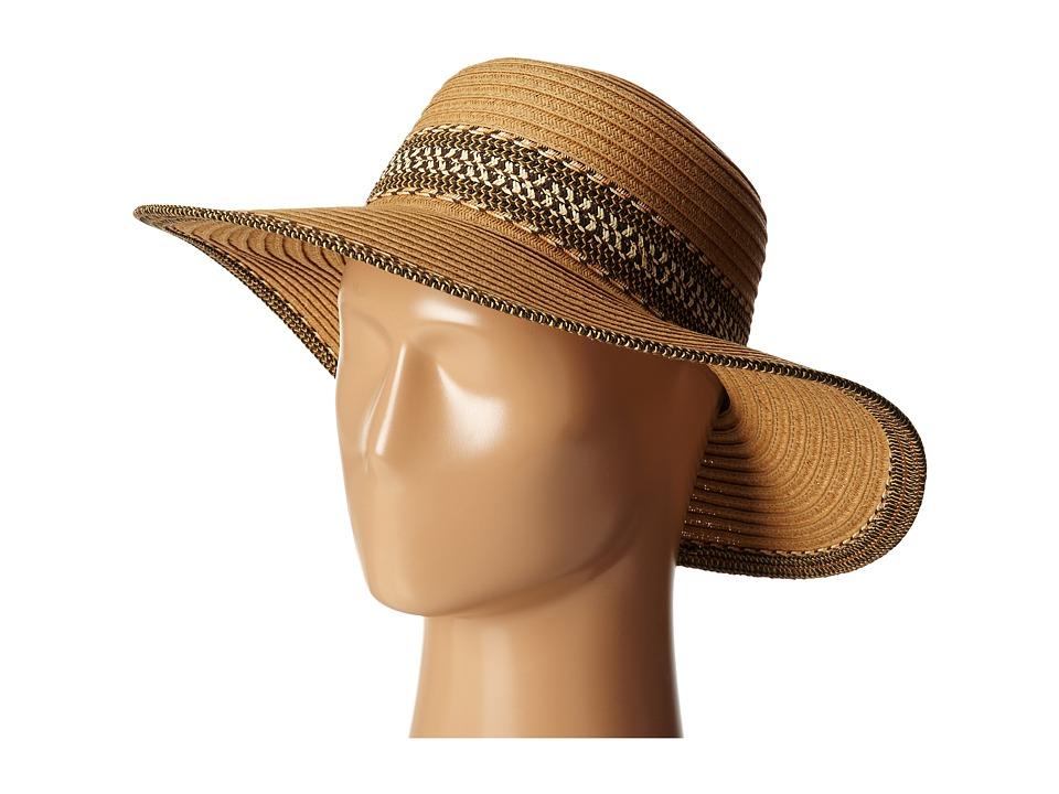 San Diego Hat Company - UBL6480 Ultrabraid Sunbrim w/ Pattern Band (Camel) Caps