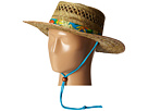 San Diego Hat Company RSM5550 Straw Gambler w/ Hibiscus Band and Chin Cord