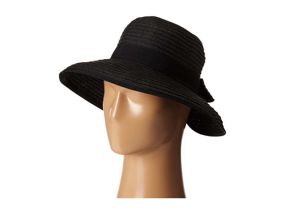San Diego Hat Company - PBM1026 Sunbrim w/ Back Bow and Contrast Edging (Black) Caps