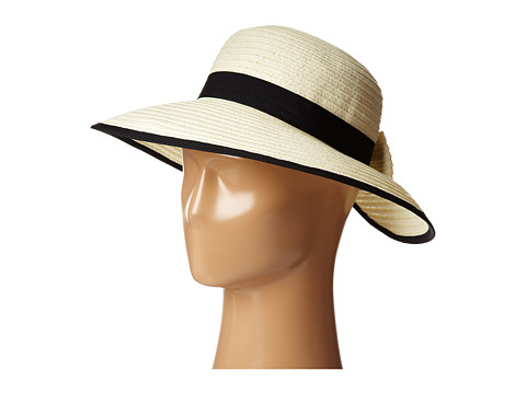 San Diego Hat Company PBM1026 Sunbrim w/ Back Bow and Contrast Edging - Ivory