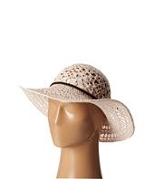 San Diego Hat Company - KNH8004 Knit Crochet Sunbrim w/ Suede Braided Trim