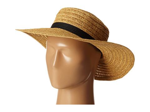 San Diego Hat Company UBL6474 Ultrabraid Sunbrim w/ Ribbon Bow - Natural