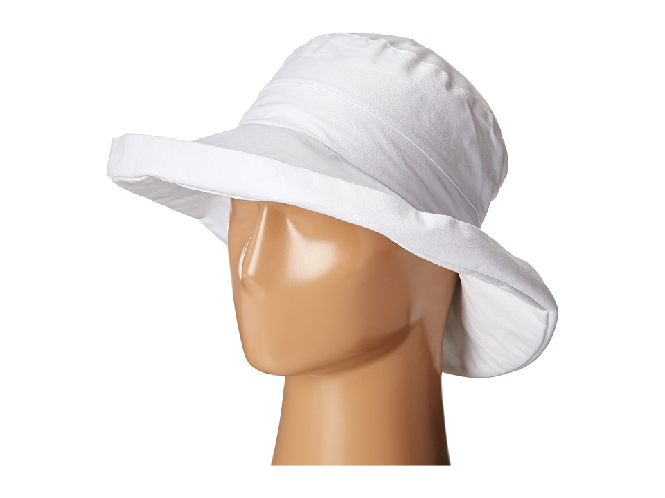 San Diego Hat Company - CTH4077 Linen Fabric w/ Kettle Brim (White) Caps