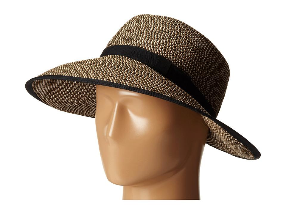 San Diego Hat Company - UBM4442 Ultrabraid Sunbrim Capped Back w/ Egg Band (Mixed Black) Caps