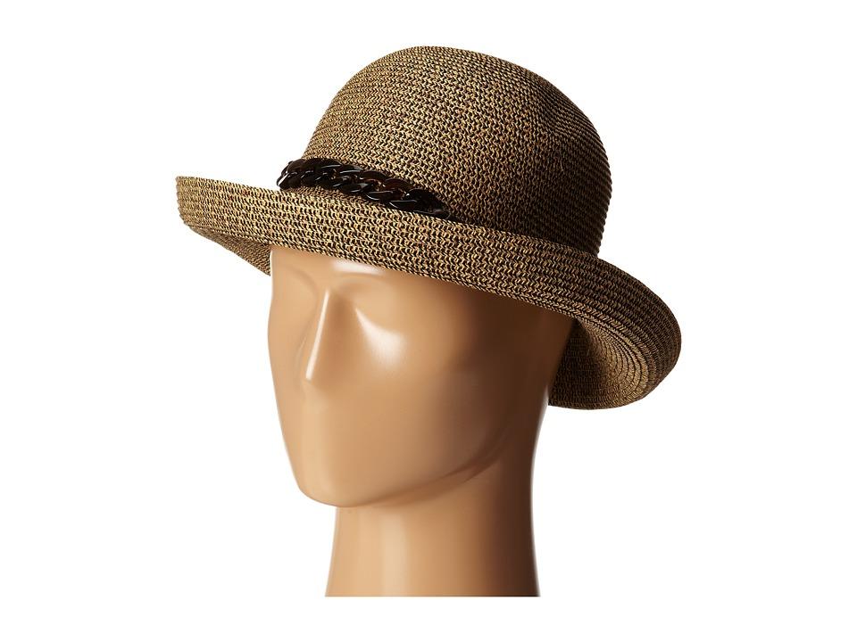 San Diego Hat Company - UBM4440 Kettle Brim w/ Tortoise Shell Chain (Mixed Black) Caps
