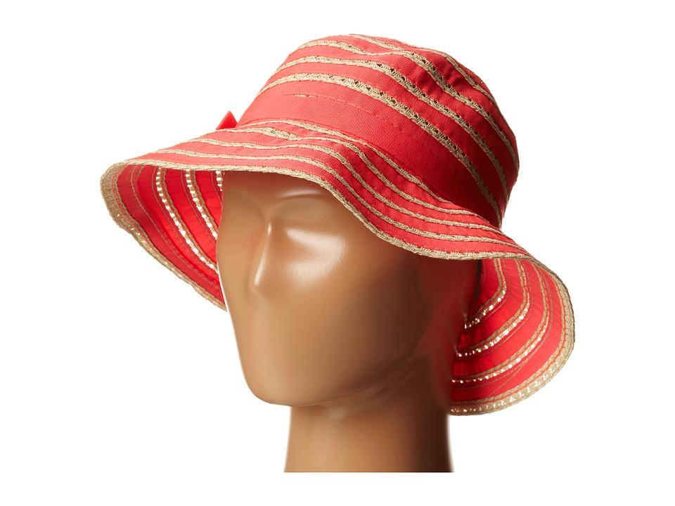 San Diego Hat Company Kids - RBK3080 Kids Ribbon And Paper Straw Bucket Hat