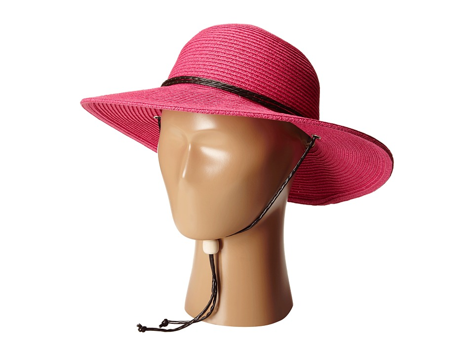 San Diego Hat Company Kids - PBG1KID Solid Sunbrim w/ Chin Cord and Stretchband (Big Kids) (Hot Pink) Caps