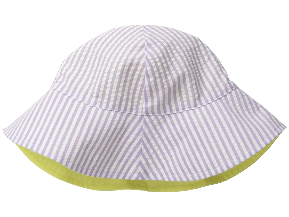 San Diego Hat Company Kids - CTK3422 Reversible Seersucker Bucket w/ Chin Strap (Infant) (Lavender) Bucket Caps