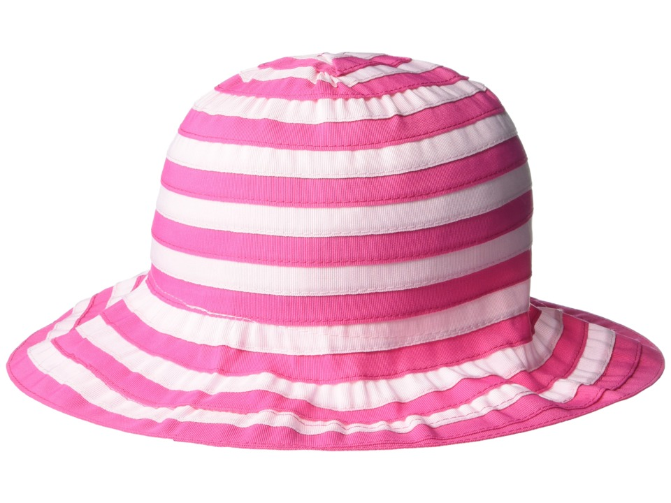 San Diego Hat Company Kids - RBK3082 Ribbon Bucket Hat w/ Chin Strap (Pink) Bucket Caps