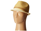 San Diego Hat Company UBF1012 Fedora w/ Suede Band and Gold Beads
