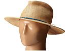 San Diego Hat Company RHF6116 Raffia Panama Fedora w/ Turquoise Beads