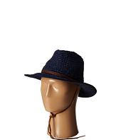 San Diego Hat Company - PBF7010 Crochet Panama Fedora w/ Leather Chin Cord