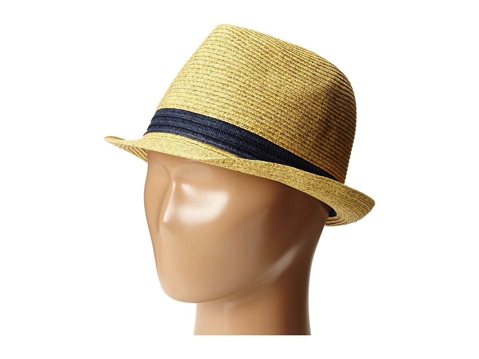 San Diego Hat Company Kids - PBK3210 Fedora w/ Contrast Band (Natural) Caps