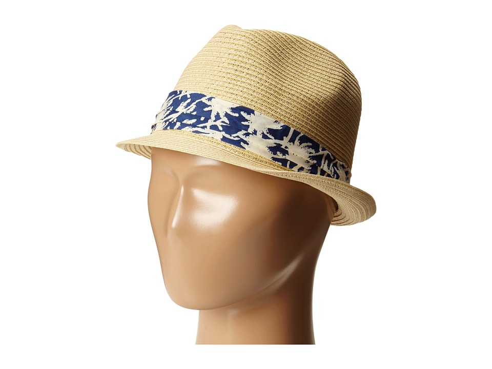 San Diego Hat Company Kids - PBK3208 Fedora w/ Palm Tree Band (Natural) Caps