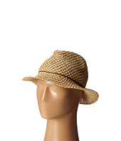 San Diego Hat Company - PBF6188 Two-Tone Woven Paper Fedora w/ Rope and Coconut Trim