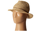 PBF6188 Two-Tone Woven Paper Fedora w/ Rope and Coconut Trim