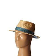 San Diego Hat Company - SDH2029 Straw Panama Fedora w/ Chambray Band Underbrim